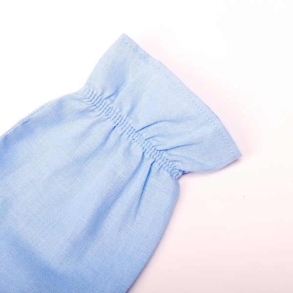 The Pulau Mini Baju Kurung - Baby Blue with Semporna