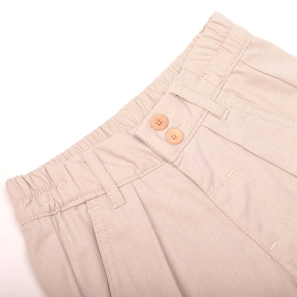 The Pulau Cotton Linen Pants - Soft Grey