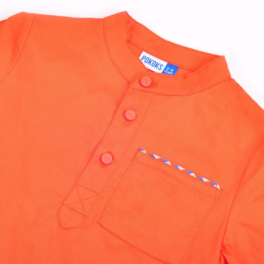 The Pelangi Kurta - Orange