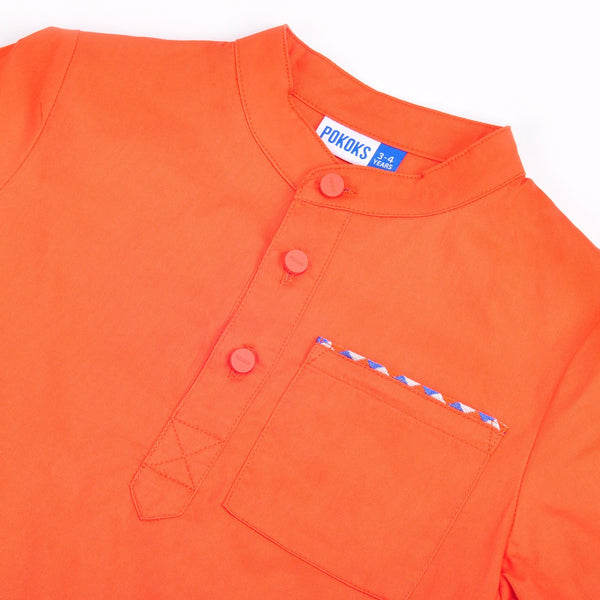 The Pelangi Men Kurta - Orange