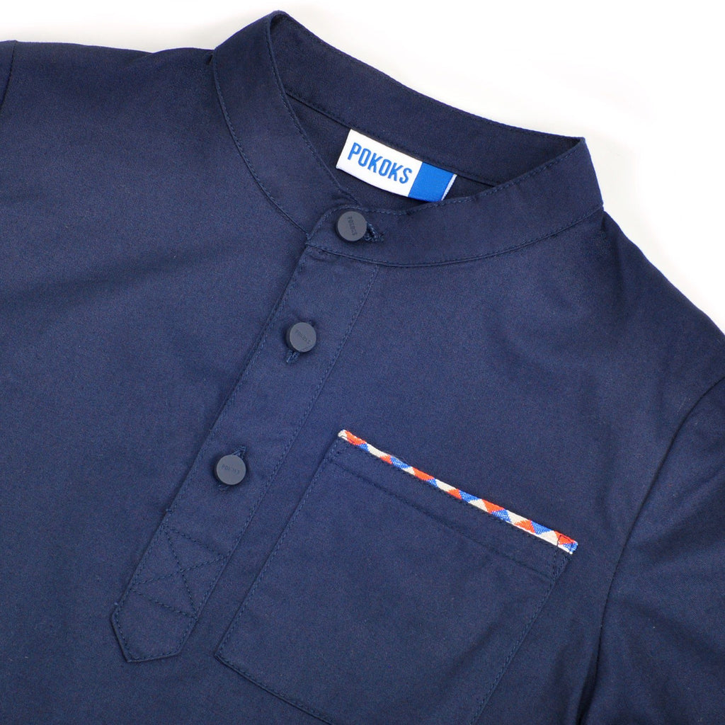 The Pelangi Kurta - Navy Blue