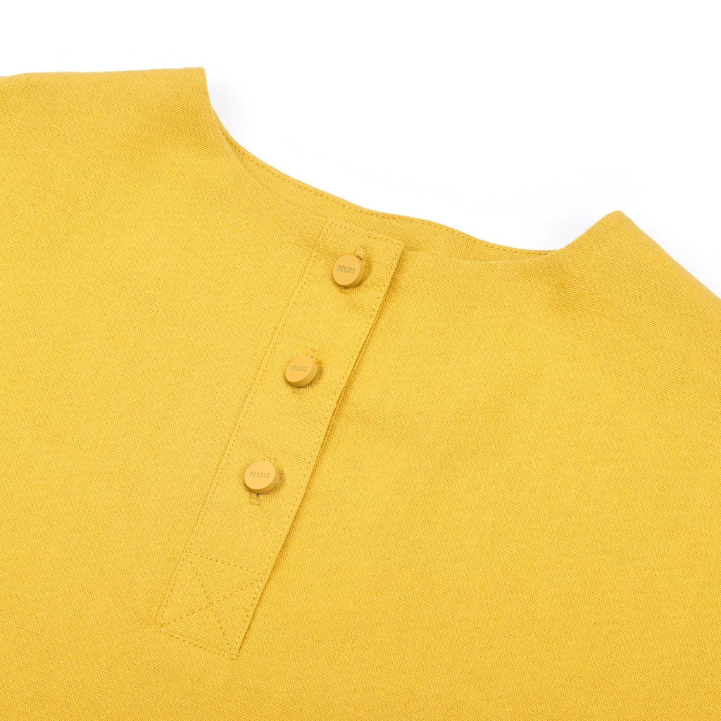 The Pelangi Pair Pockets Blouse - Mustard