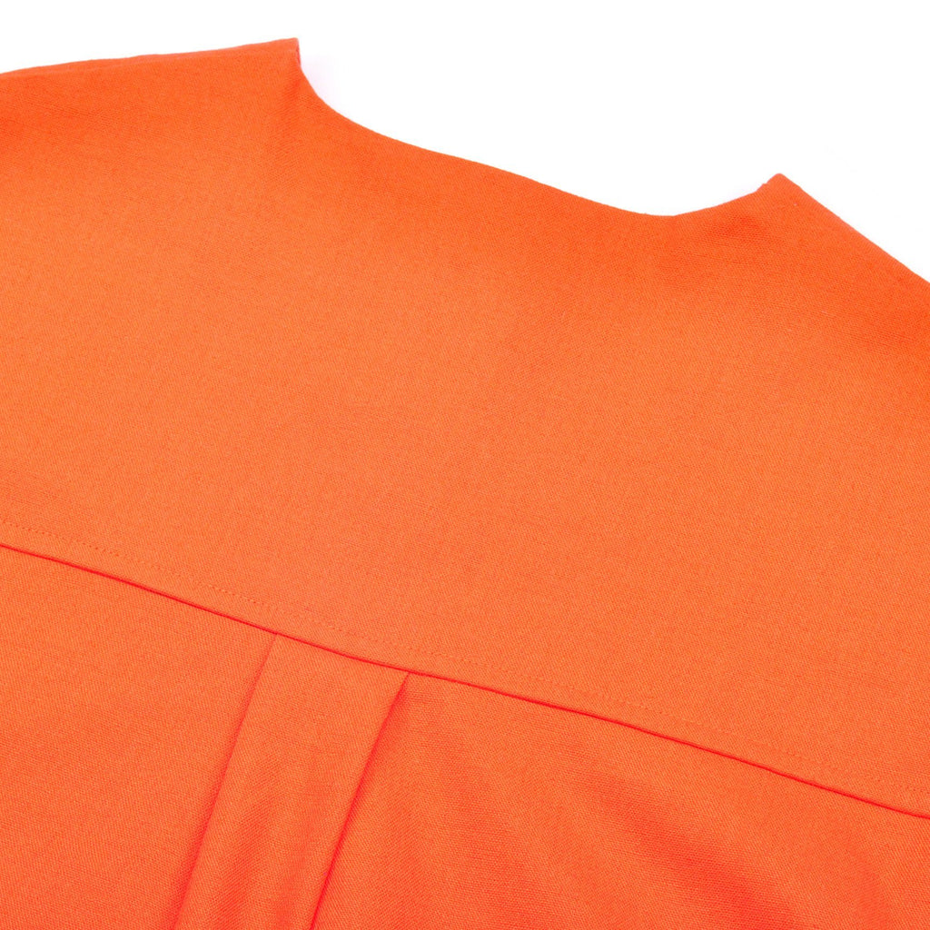 The Pelangi Pair Pockets Blouse - Orange