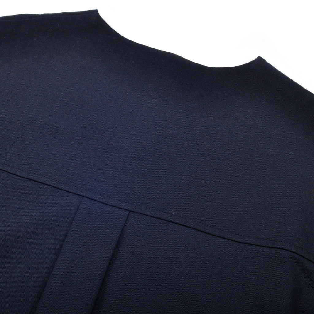 The Pelangi Pair Pockets Blouse - Navy Blue