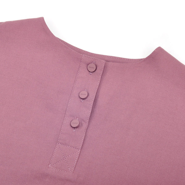The Pelangi Baju Kurung - Light Mangosteen with Soft Grey