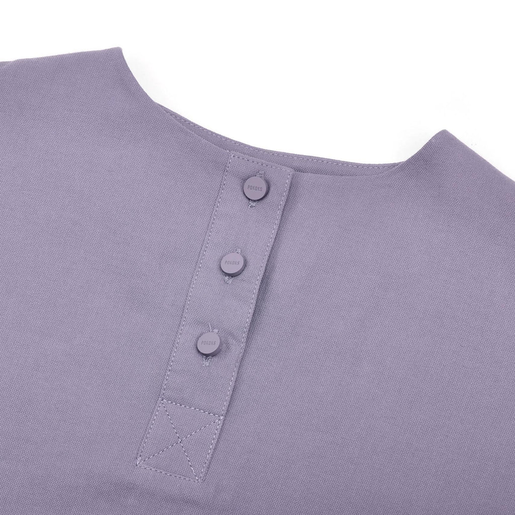The Pelangi Pair Pockets Blouse - Dark Purple