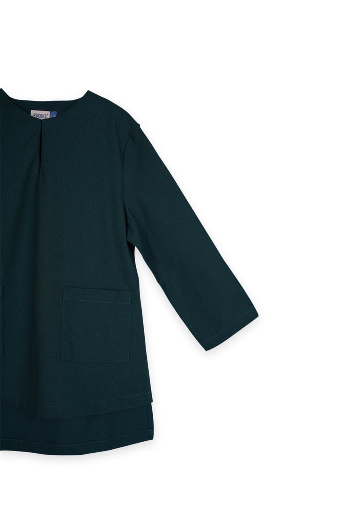 The Bangun Pair Pockets Kurta - Emerald Green