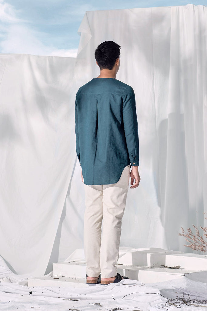 The Langit Men Kurta - Emerald Green