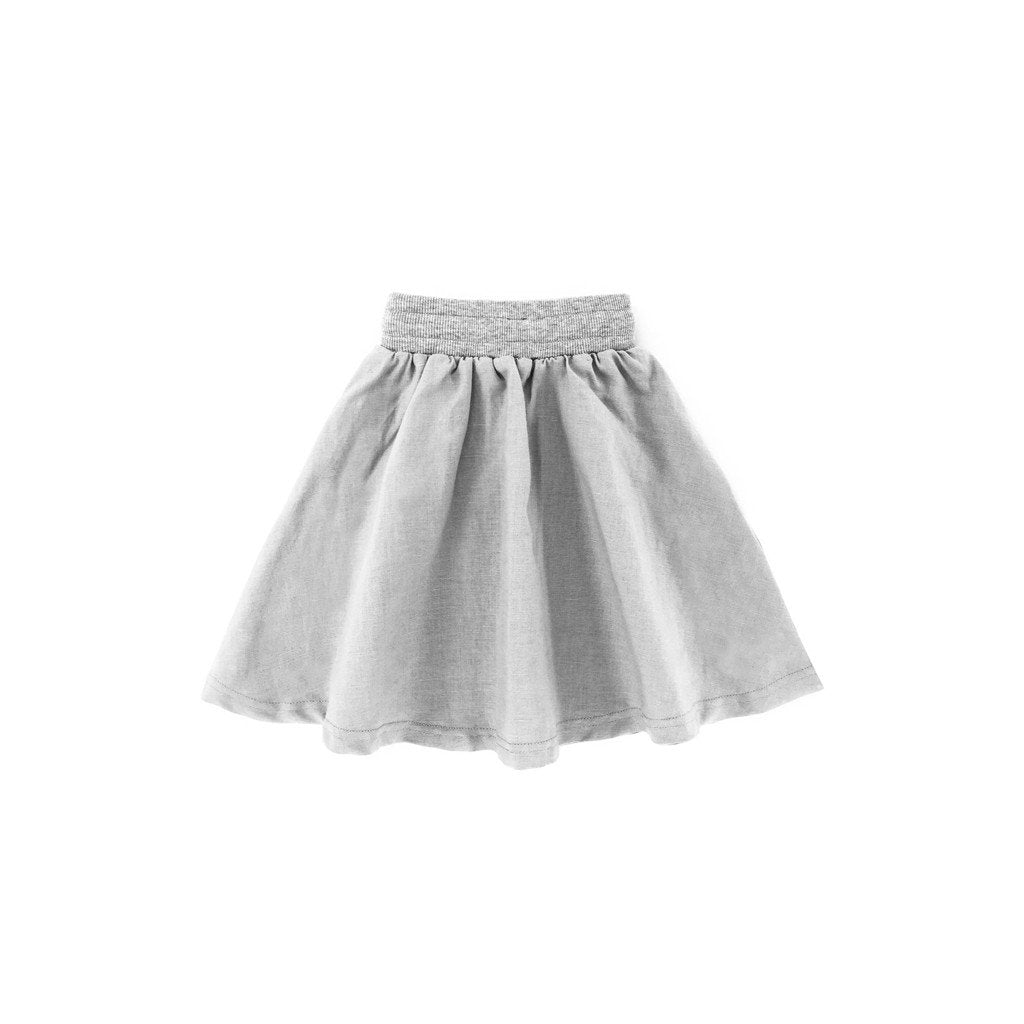 The Tropical Casual Linen Skirt - Grey
