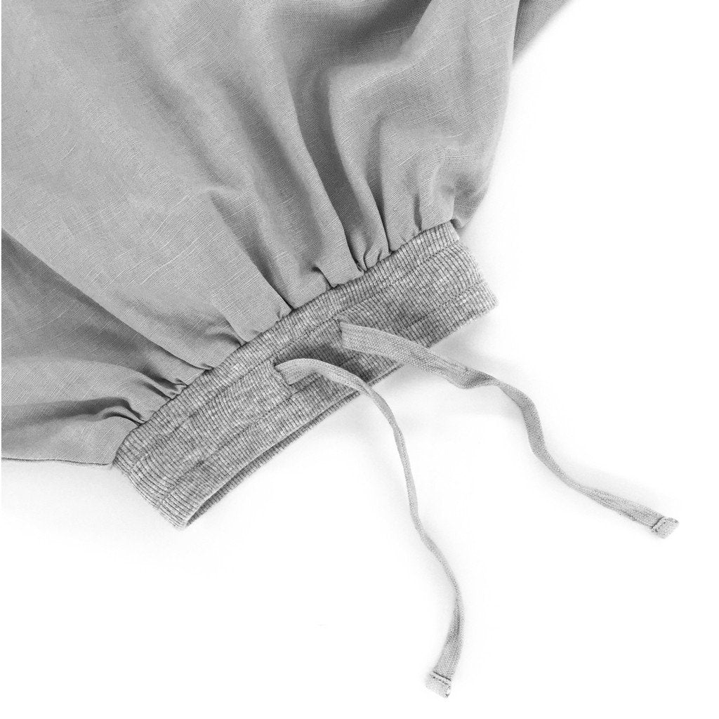 The Padi Long Linen Skirt - Grey