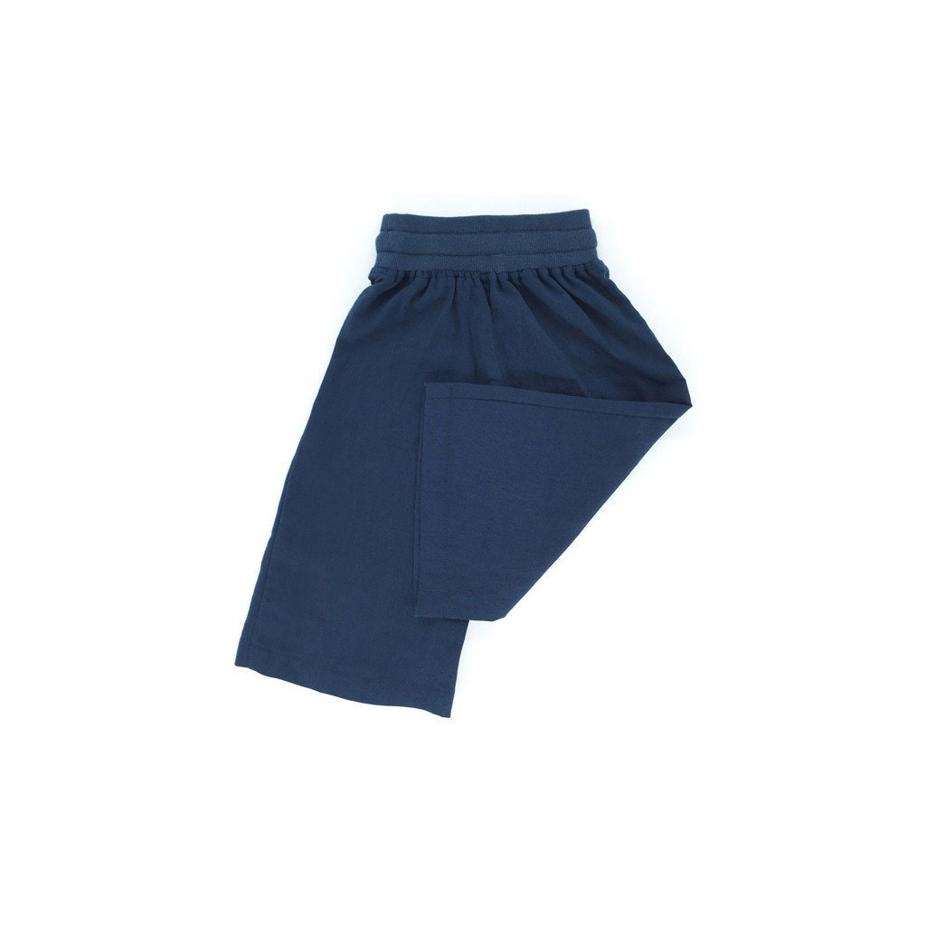 The Tropical Casual Linen Pants - Dark Blue