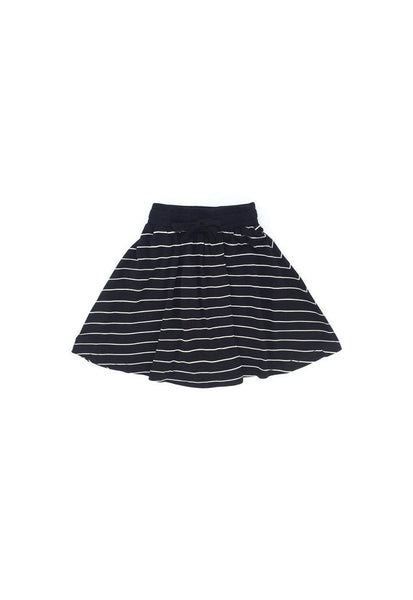 The Tropical Stripe Comfy Skirt - Black