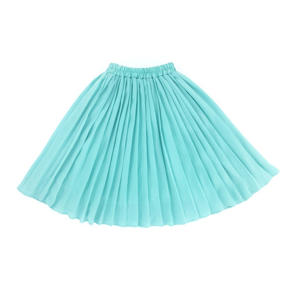 The Tropical Long Pleated Skirt - Green