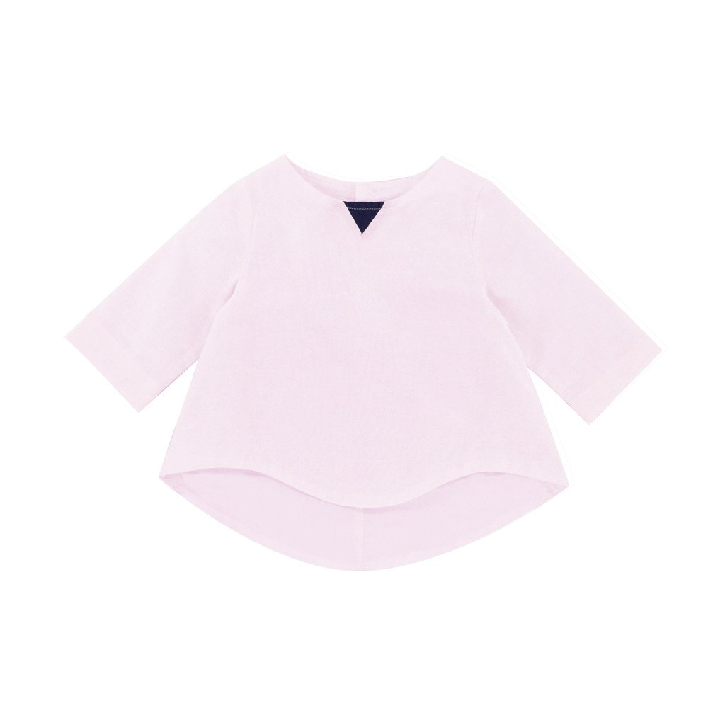 The Tropical Mini Foxy Linen Blouse - Pink