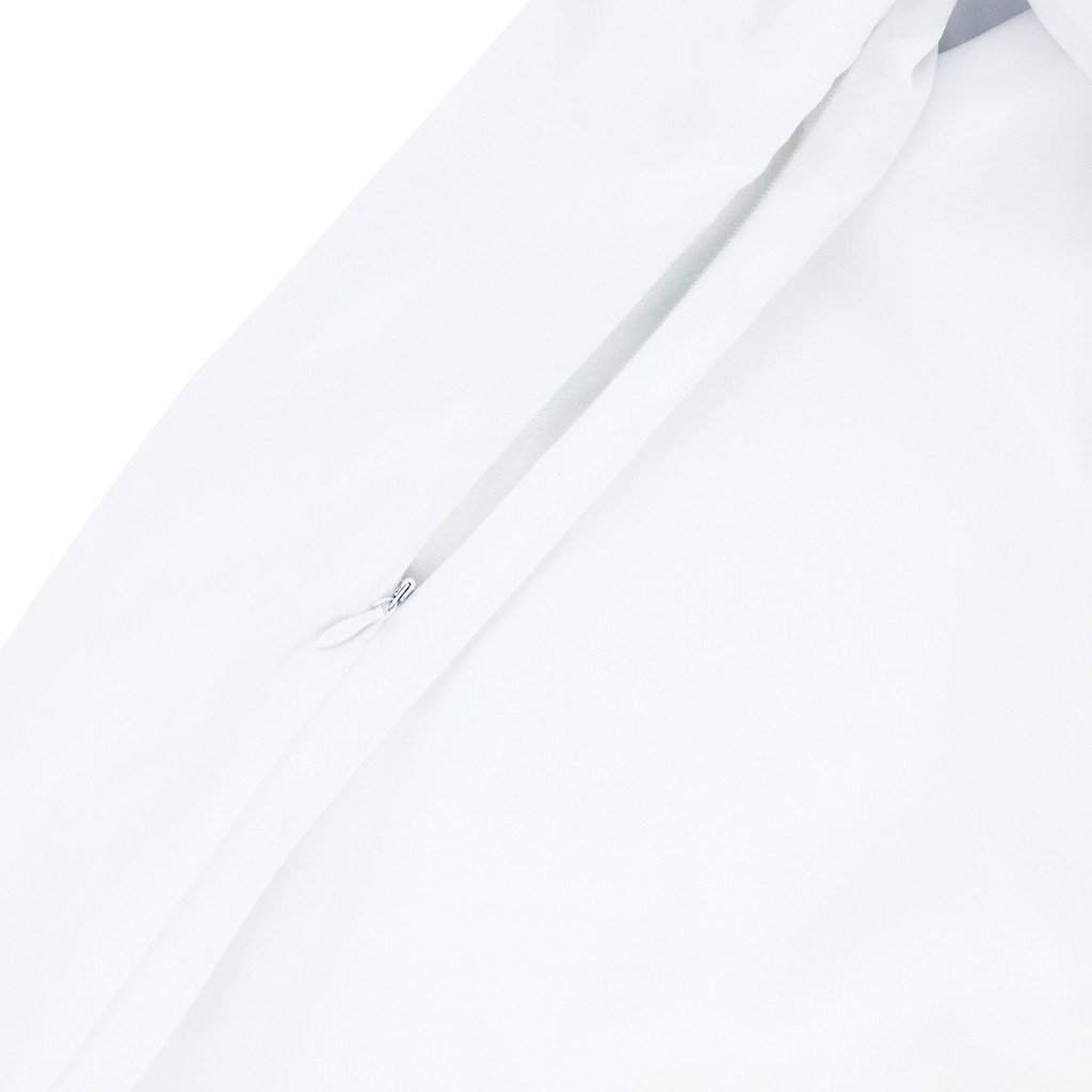 The Tropical Little Blossom Celebrations Jubah - Pure White
