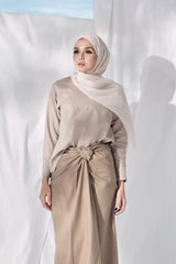The Langit Women Origami Blouse - Khaki