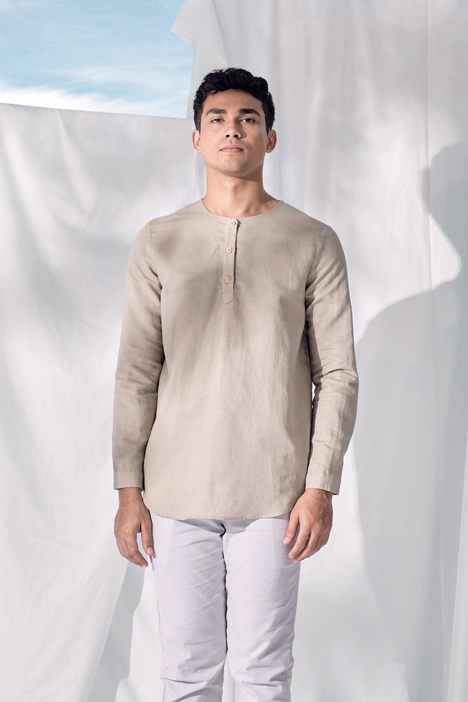 The Langit Men Kurta - Khaki