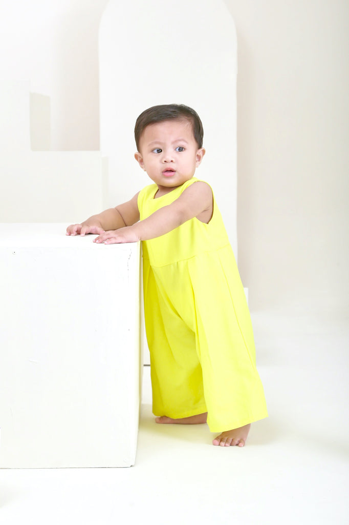The Oasis Babies Dungarees - Lemon Yellow