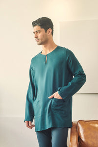 Rasa Sayang Men Kurta - Emerald Green