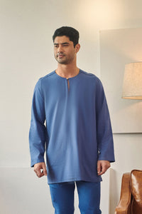 Rasa Sayang Men Kurta - Steel Blue