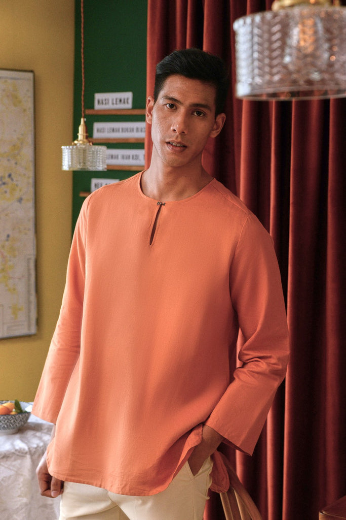 The Sungai Men Kurta - Brown