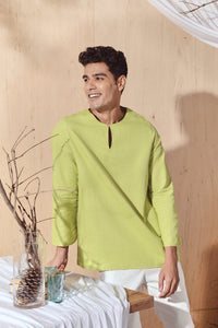 The Balik Men Kurta - Lime Green