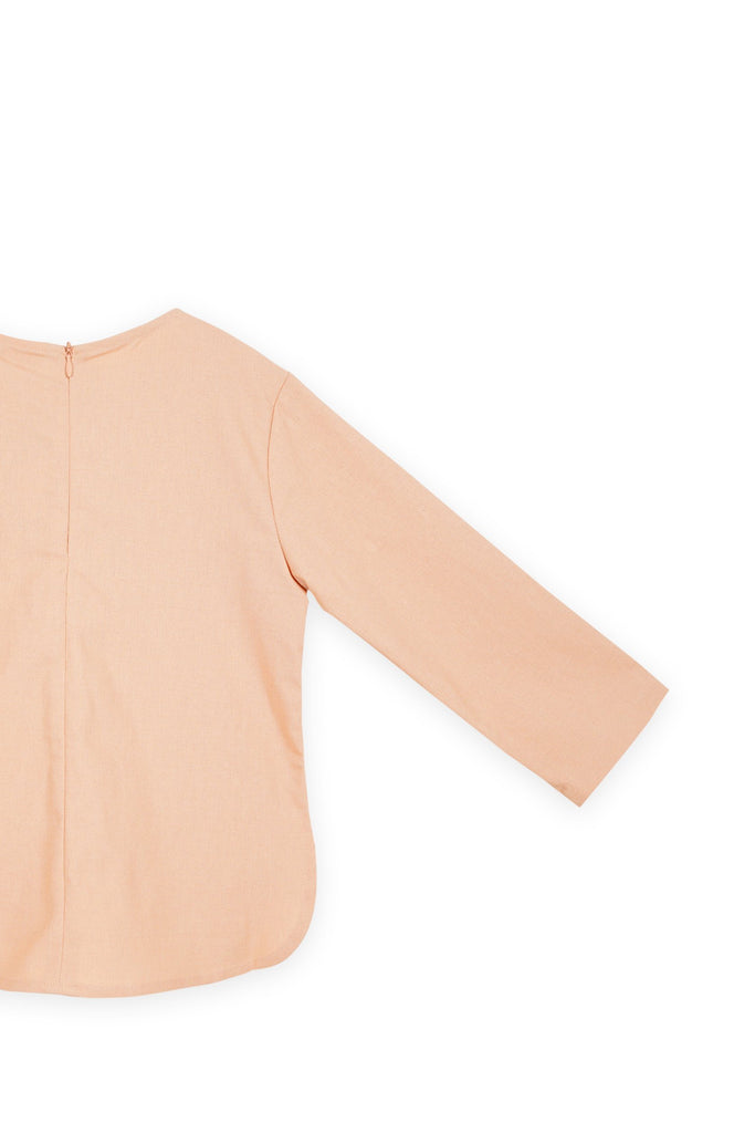 The Bangun Pair Pockets Kurti - Peach