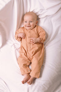 The Nari Babies Jumpsuit - Peach
