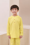 The Nari Kurta - Lemon Yellow