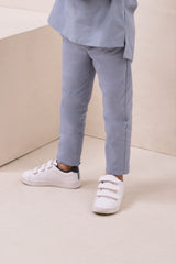 The Nari Slim Pants - Light Pigeon Blue
