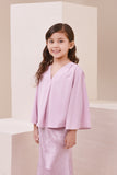 The Nari Butterfly Blouse - Light Purple