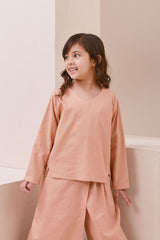 The Nari Tunic Kite Blouse - Peach