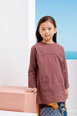The Pulau Pair Pockets Tunic - Mangosteen