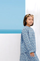 The Pulau Batik Blouse -Langkawi Print