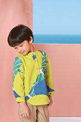 The Pulau Long Sleeve Batik Kurta - Semporna Print