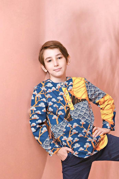 The Pulau Long Sleeve Batik Kurta - Sentosa Print