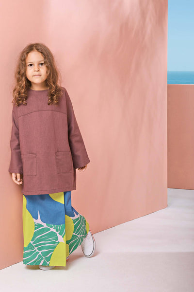 The Pulau Pair Pockets Baju Kurung - Mangosteen with Semporna