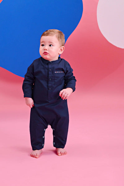 The Pelangi Babies Jumpsuit - Navy Blue