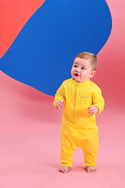 The Pelangi Babies Jumpsuit - Lemon Yellow