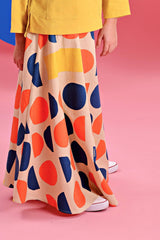 The Pelangi Skirt - Chatters Print
