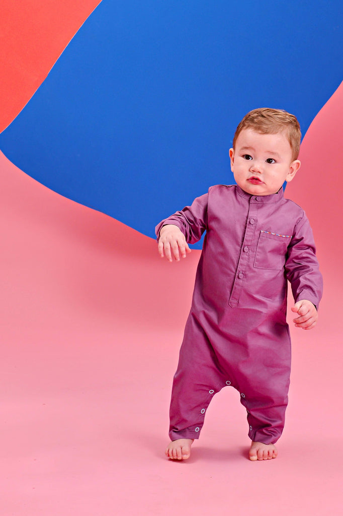 The Pelangi Babies Jumpsuit - Light Purple