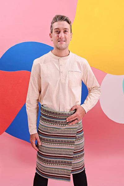 The Pelangi Men Kurta - Cream