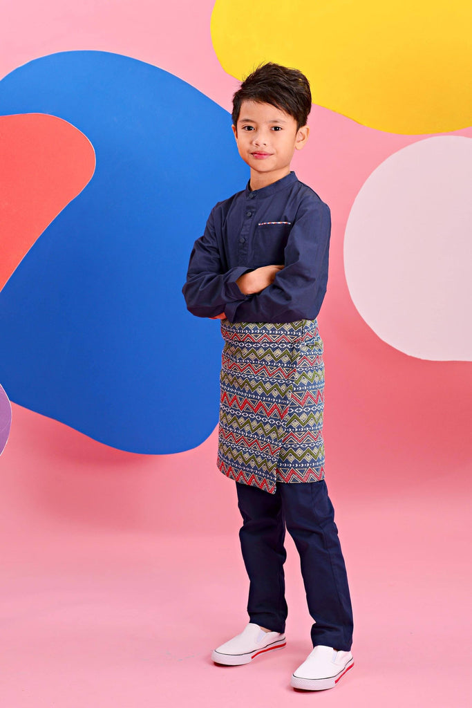 The Pelangi Tapered Pants - Navy Blue