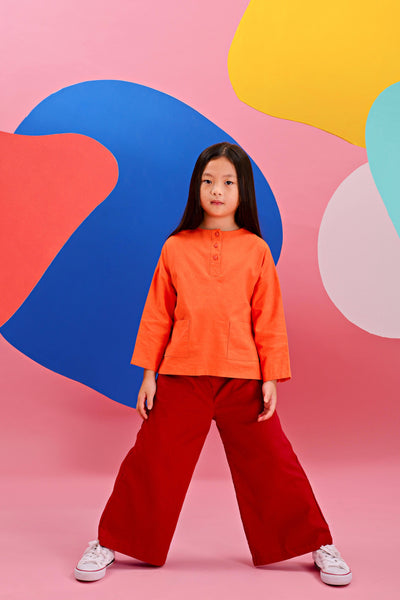 The Pelangi Everyday Set - Orange with Ruby Red