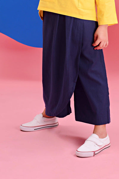 The Pelangi Skirt Pants - Navy Blue