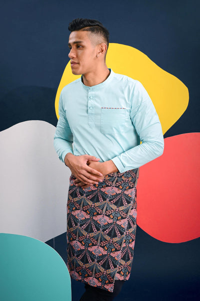 The Pelangi Men Kurta - Tiffany Blue