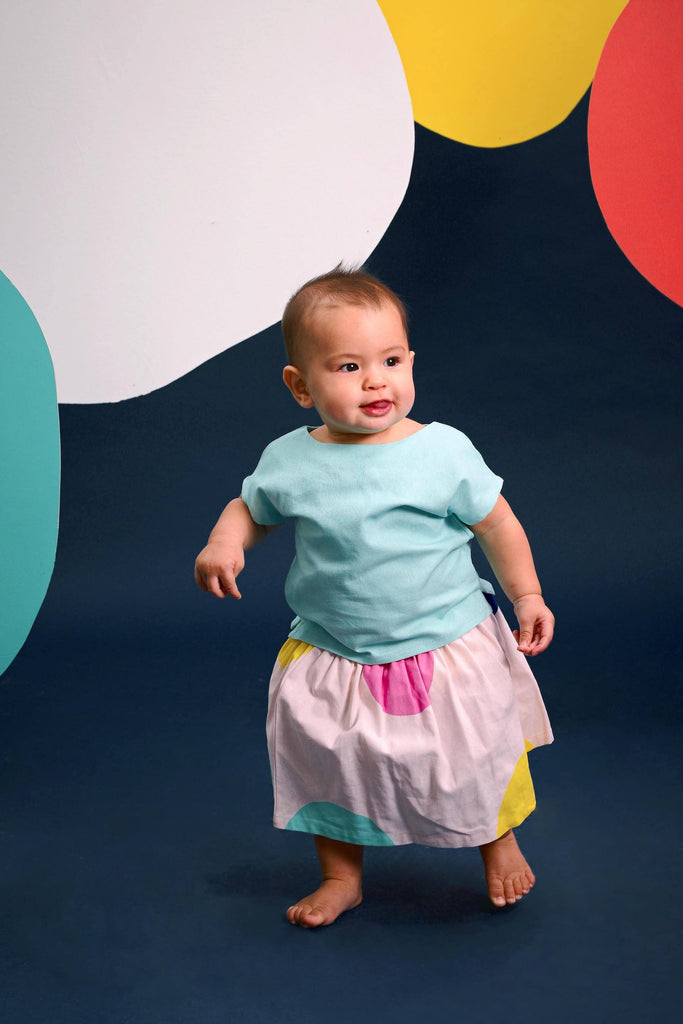 The Pelangi Babies Boxy Top - Tiffany Blue