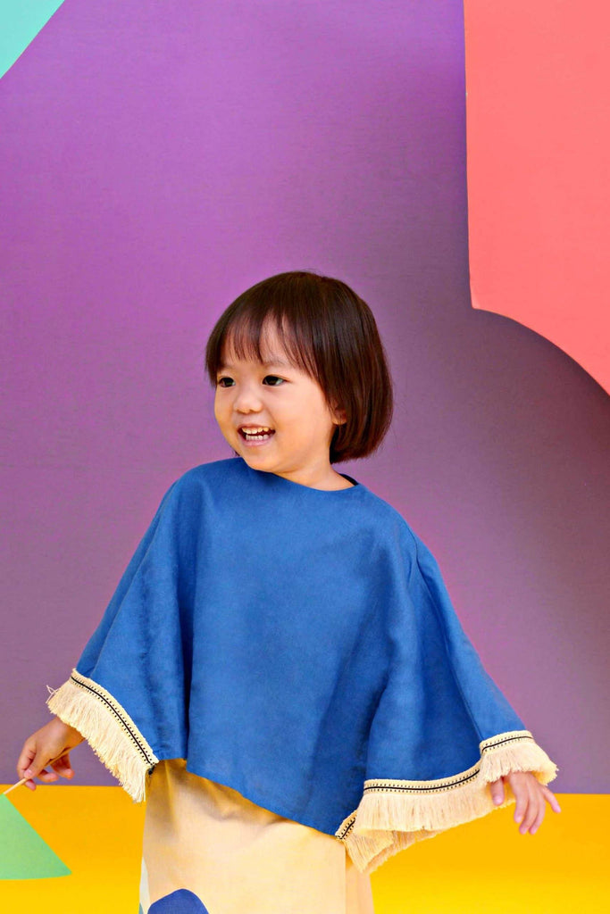 The KITA Poncho Top - Royal Blue