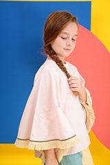The KITA Poncho Top - Light Pink