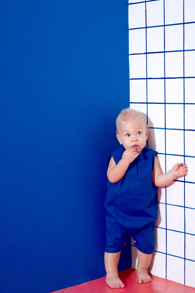 The KITA Babies Jumpsuit - Royal Blue